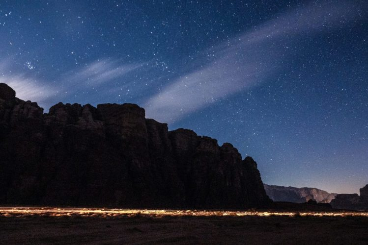 starry skies wadi rum desert nights
