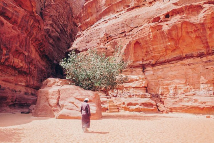 Bedouins in the desert, Wadi Rum
