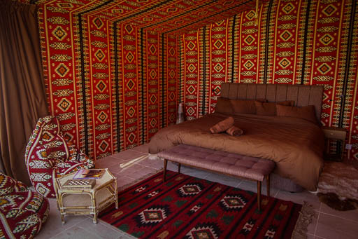 Luxury Bedouin Tent with private bathroom - Arabian Nights Wadi Rum Bedouin Camp
