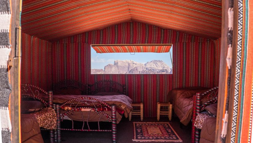 family or group tent with large window and view