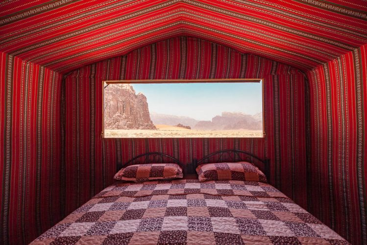 views of wadi rum desert protected area from your bed