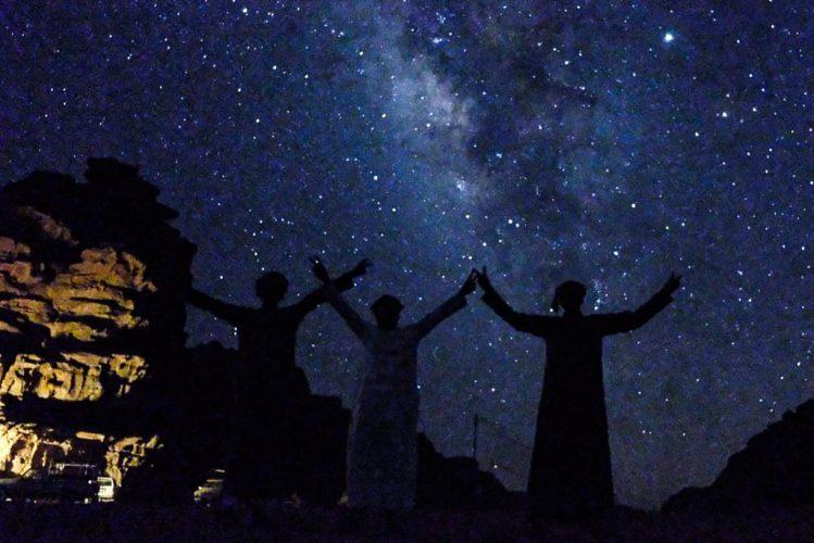 Bedouins enjoying the star sky