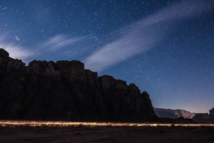 starry skies wadi rum desert nights