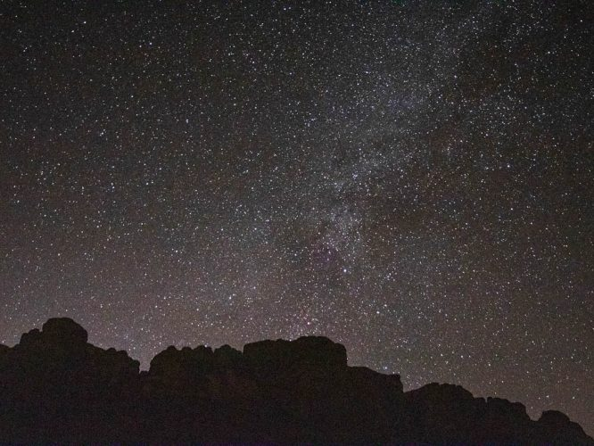 starry skies wadi rum desert nights - million stars