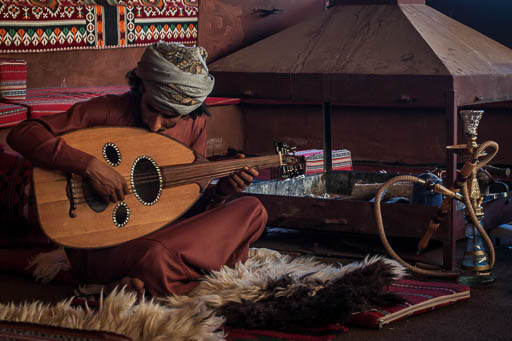 bedouin playing oud