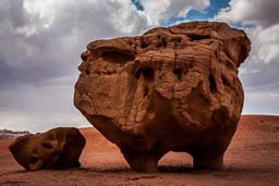 cow rock white desert wadi rum jordan