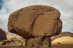 mushroom rock wadi rum jordan