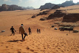 red sand dune wadi rum jordan