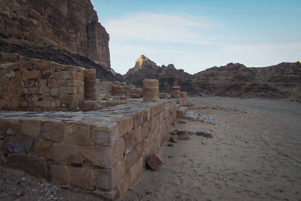 nabatean temple in wadi rum