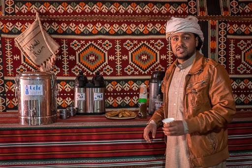 Wadi Rum Bedouin camp tea station