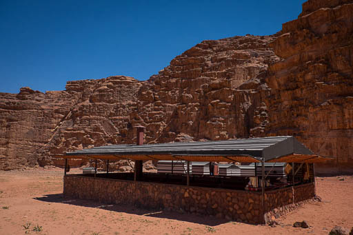 large bedouin tent with windows that open for panoramic views