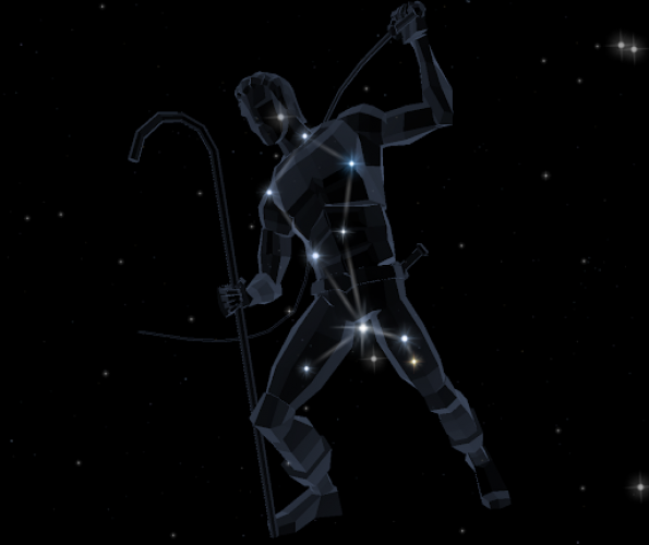 Bootes star constellation