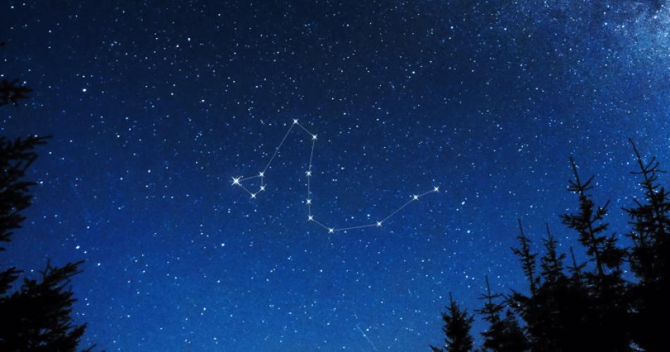 Draco constellation sky