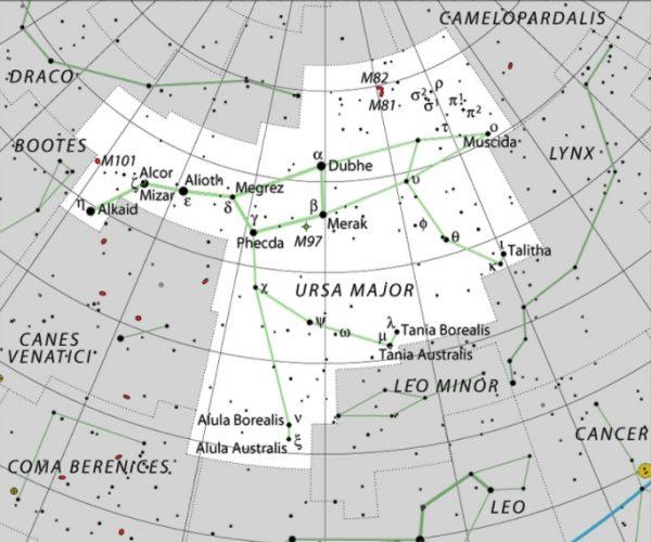 Ursa major stars