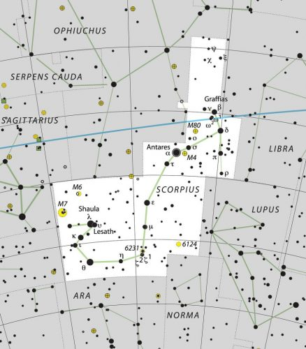 Scorpius constellation IAU