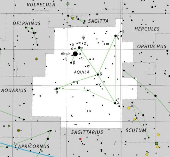 Aquila constellation IAU