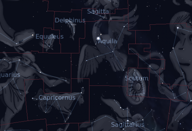 Aquila star constellation